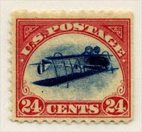 Inverted Jenny Valuable  Stamp